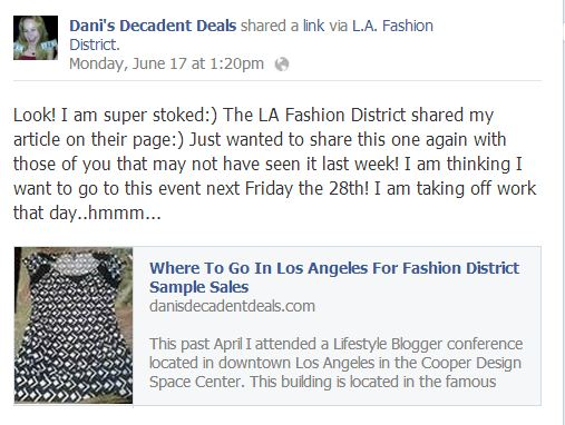 LA Fashion DIstrict Sample Sales