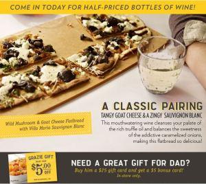 Macaroni Grill $5 FREE and Half Off Wine
