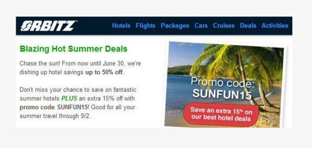 Orbitz 30% off thru June 30