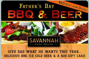 Savannah Chophouse BBQ  and Beer Father's Day #1