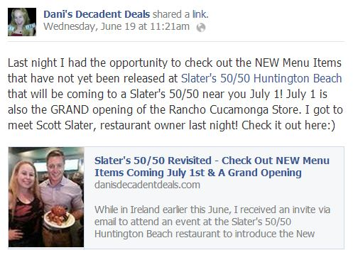 SLater's 50-50 New Menu July 1