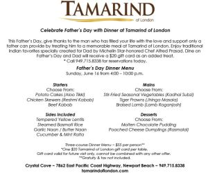 Tamarind of London Father's Day Special
