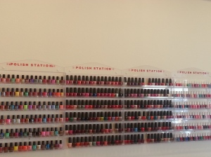 The Wall Of Nail Colors