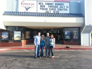 Dani, hubby and friends at Encore Theater