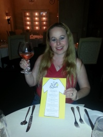 Dani With Menu And A Glass Of Rose