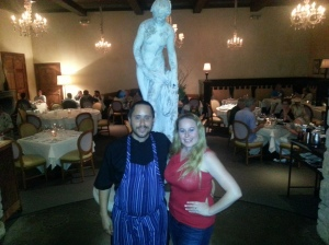 Dani & Executive Chef Alfonso Ramirez in DIning Room Of Pinot Provence