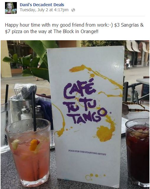 Cafe Tu Tu Tango - Awesome Happy Hour
