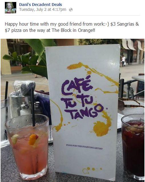 Cafe Tu Tu Tango - Awesome Happy Hour