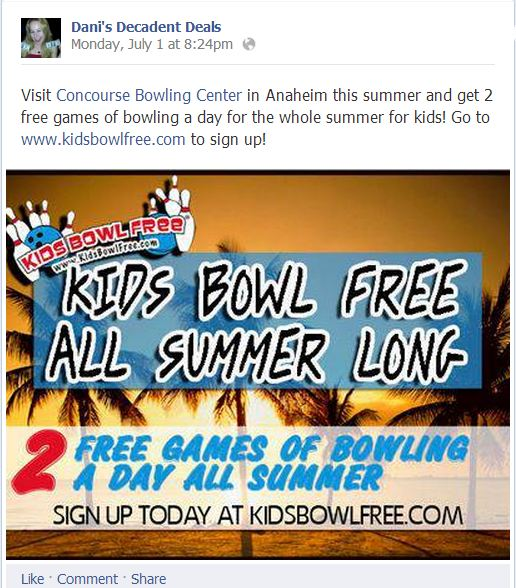 FREE Bowling For Kids All Summer - Concourse Bowling