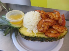 Healthy Option at OC Fair 2012 Pineapple stuffed with shrimp or chicken and rice