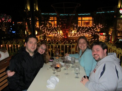 Dani with Hubby And Friends at Patina Group Restaurant in Downtown Disney - Catal