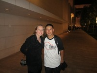 Dani And One Of Her Students After Summer At The Center Performance