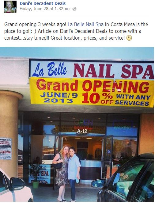 La Belle Nail Spa Grand Opening Costa Mesa