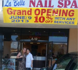 La Belle Nail Spa Grand Opening - Michelle & I