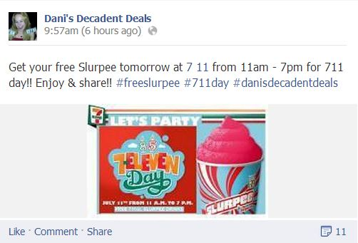 National Slurpee Day at 7-11 FREE SLurpees on 7-11 Only!