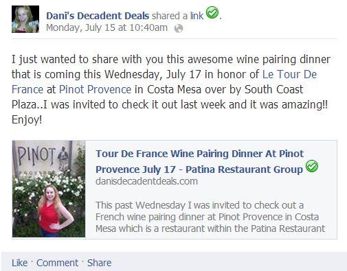 Patina Group Birthday Pinot Provence Patina Group