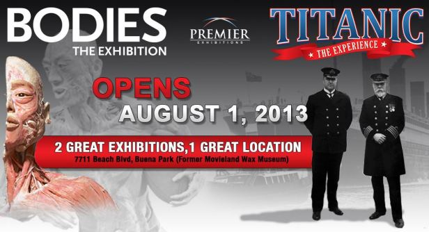 bodies exhibit and titanic experience