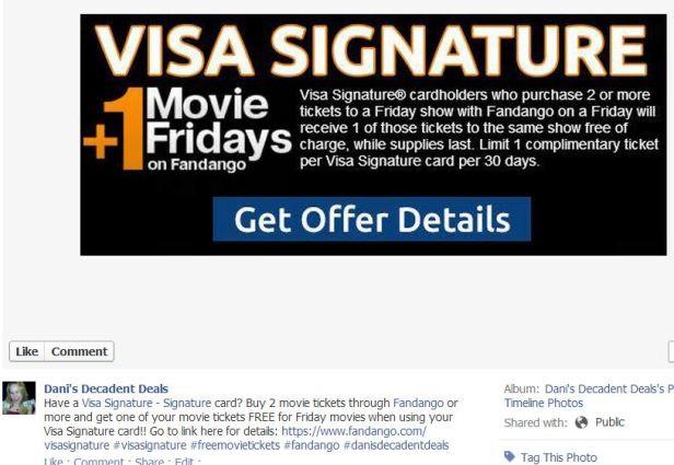 Visa Signature and Fandango FREE Movie Fridays