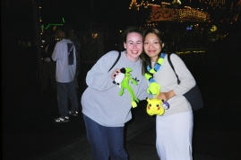 Winning stuffed toys at the OC Fair with my BFF 2007