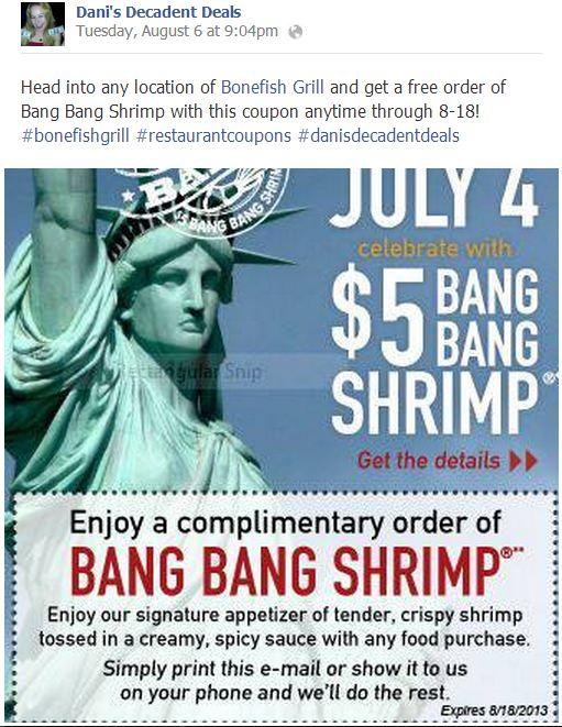 Bonefish coupons january 2018