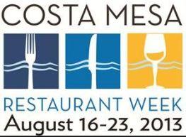 Costa Mesa Restaurant Week Logo