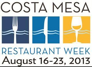 Costa Mesa Restaurant Week August 16th 23rd 2013 Danis