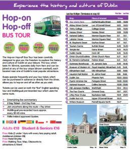 Hop ON Hop Off Bus Tour Dubin