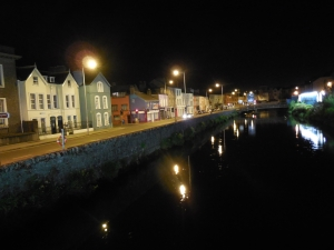 River Lee in Cork at Night