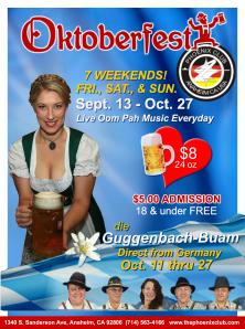 Oktoberfest Phoenix Club Anaheim