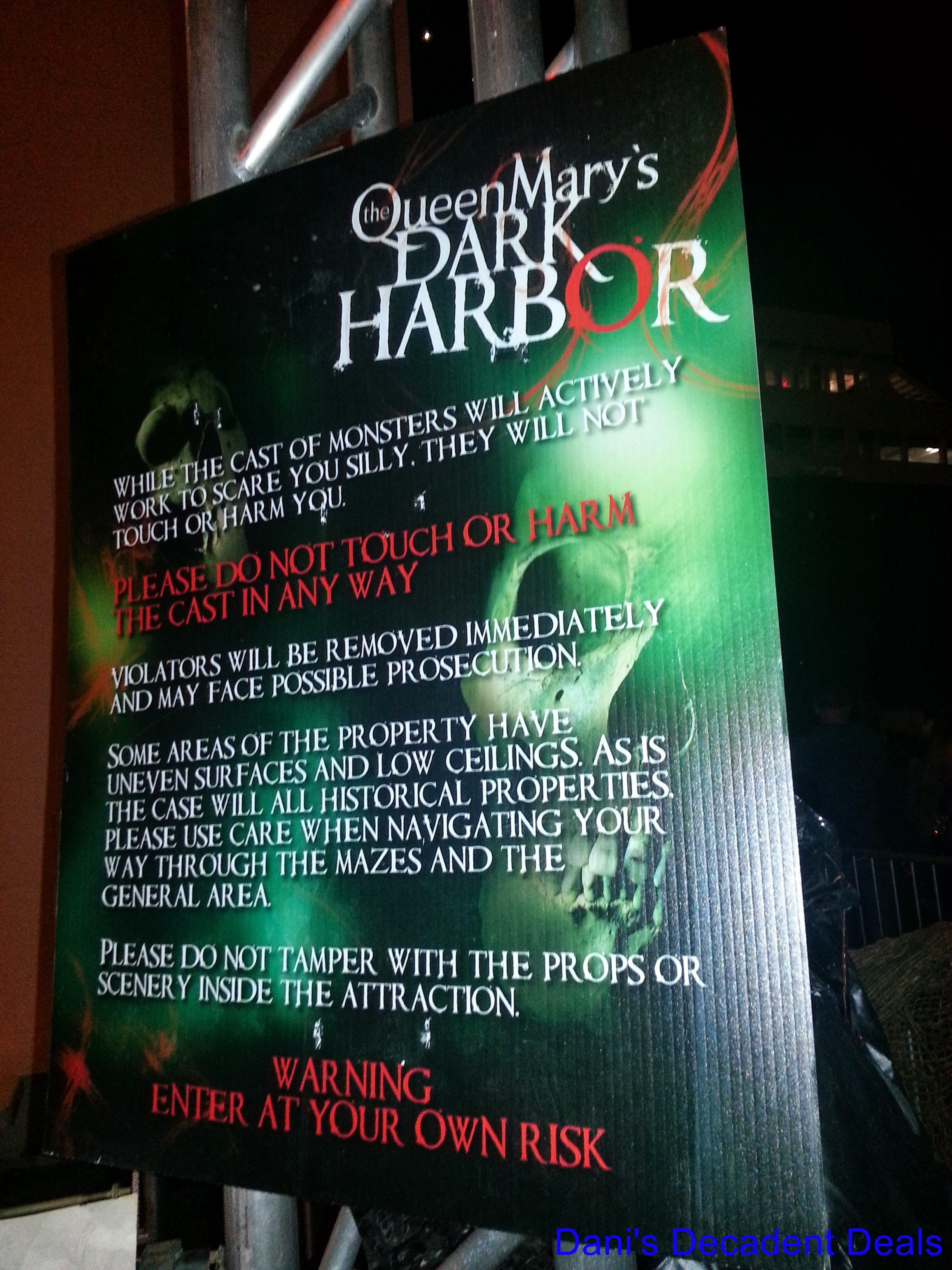 Queen Mary Dark Harbor – Dani's Decadent Deals
