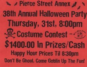 Pierce Street Annex, Costa Mesa, Halloween party costume contest