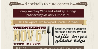 wine and whiskey, expo 4 life, newport beach, malarky's