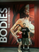 Husband and I at Bodies Exhibit