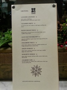 Greenleaf Cocktail Menu