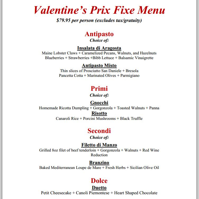 Valentines Day Restaurant Meals And Deals 2014 Part 1 Danis