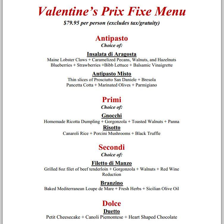 Valentine s day restaurant meals and deals 2014 part 1 for Romantic valentine dinner menu ideas