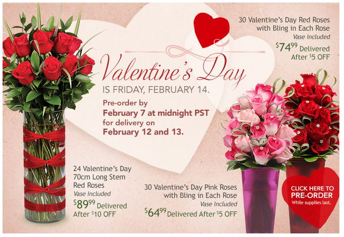 Valentine's Day is Wednesday, February 14th. Check Out All the Best Valentines Sales, Deals and Coupons! Amazon (more coupons): Up to 70% Off Valentine's Day Gift Ideas + Gifts with Free 1-Day .