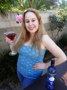 Dani with Pinnacle Whipped Vodka and Cranberry