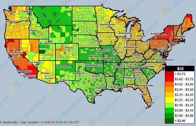 Gas Prices: Gas Prices Us