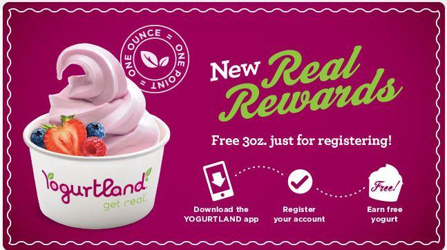 YOGURTLAND REWARDS SIGN UP