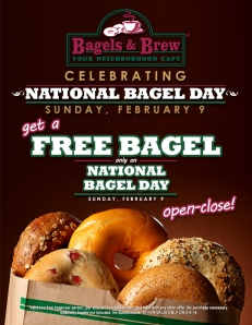 bagels and brew, national bagel day, free bagel, orange county