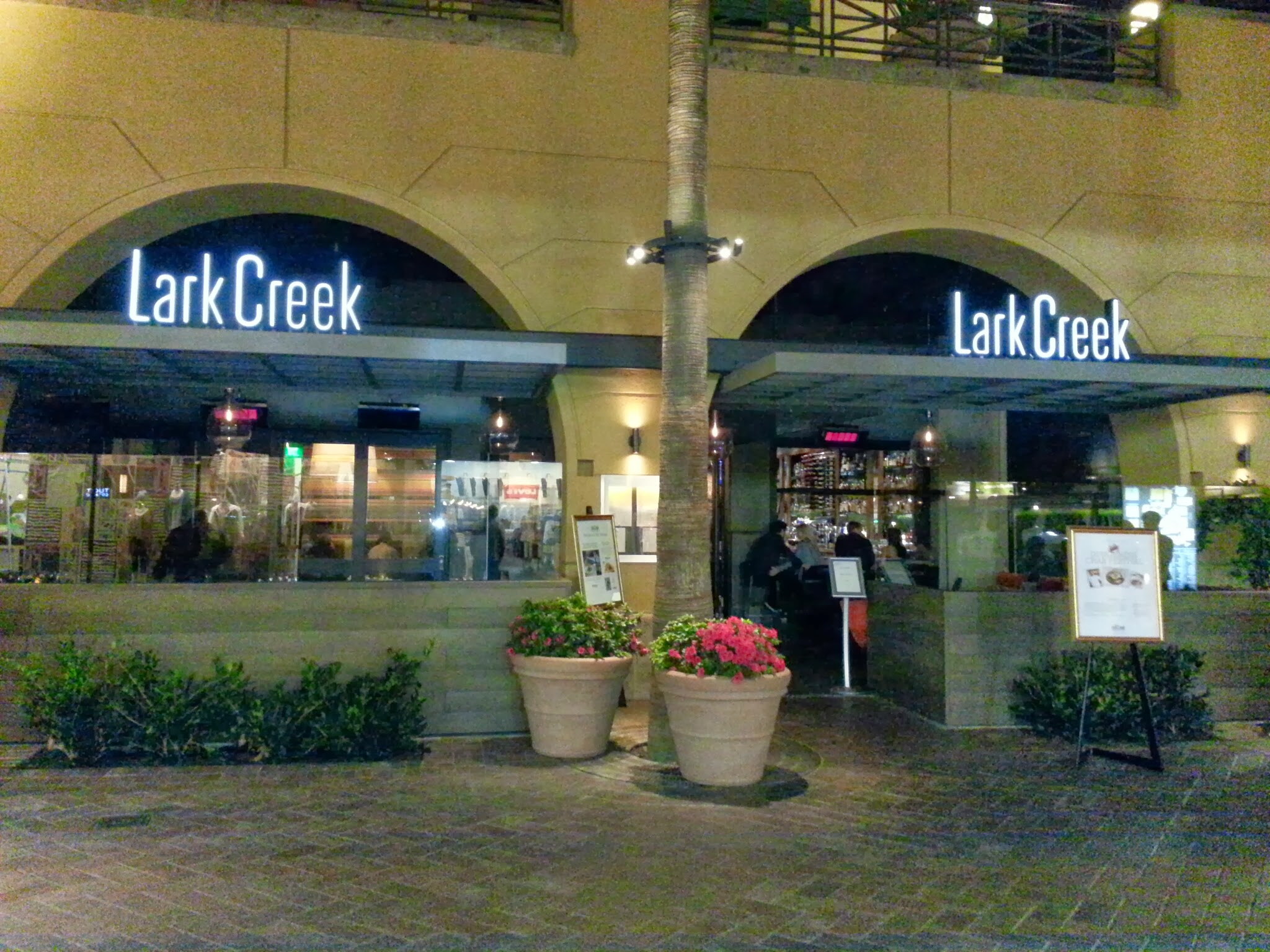 Fine dining restaurant exterior - Lark Creek Fine Dining Newport Beach Dungeness Crab Lark Creek Exterior