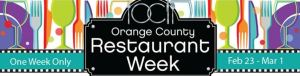 OC Restaurant week, launch party, prix fixe meals, feb 23- mar 1
