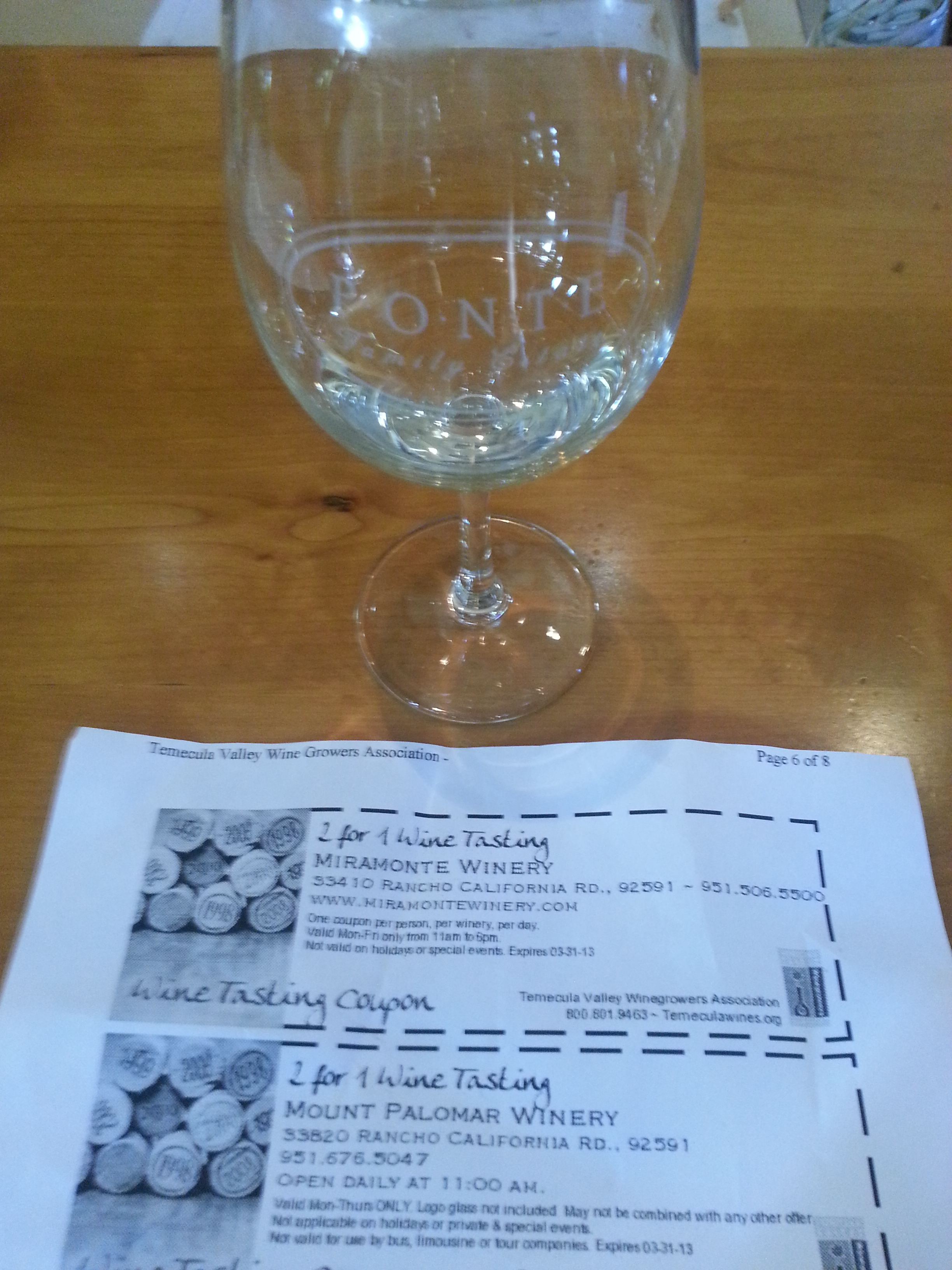 Temecula wine tasting discount coupons
