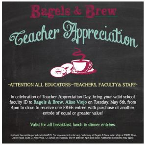 teacher appreciation day, local and national