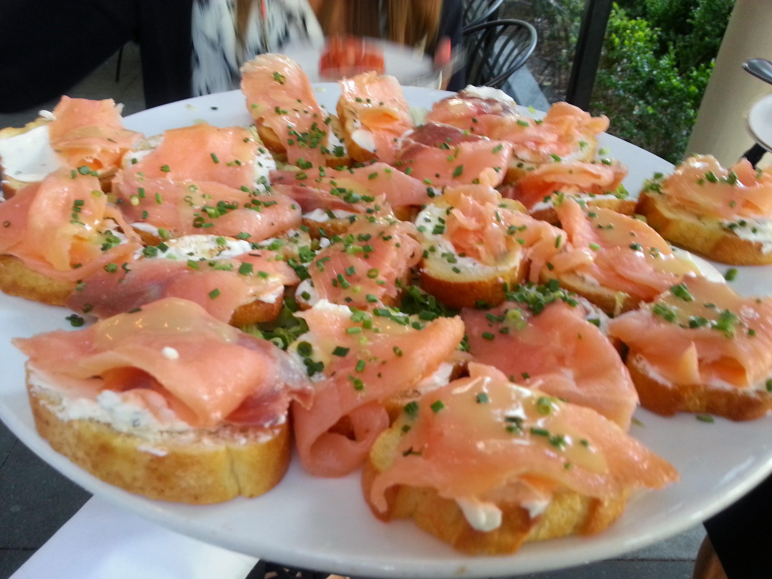 Smoked Salmon and Cream Cheese Bites