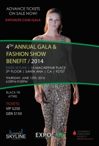 gala and fashion show, essex skyline, expo 4 life, santa ana