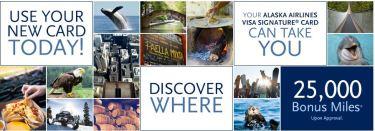 alaska airlines credit card, free flight to alaska, travel