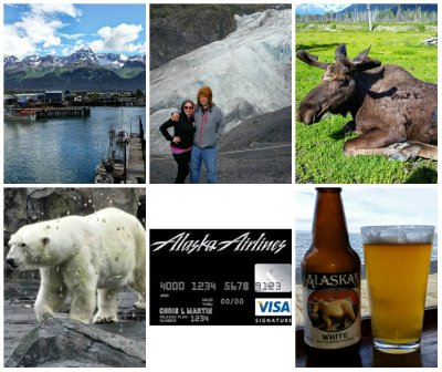 alaska airlines credit card, free flight to alaska, travel