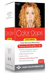 color oops, hair color removal